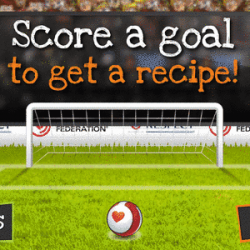 The Eat for Goals! app: healthy eating with the world's top footballers