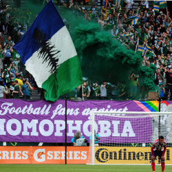 European football celebrates diversity during LGBT month of action