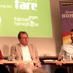 Berlin debate focuses on role models as key to address homophobia in football