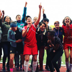 Les Dégommeuses festival celebrates football for refugee inclusion ahead of Euro 2016
