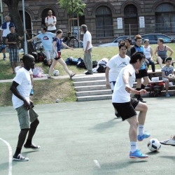 Hungarian NGOs promote refugee inclusion through football
