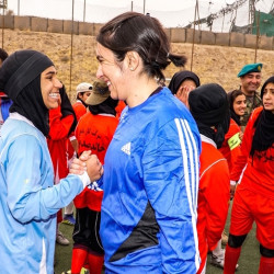 Football match raises awareness of women's rights in Afghanistan