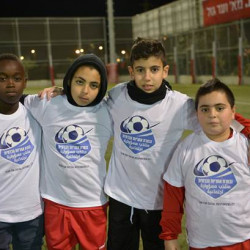 Football tournament brings together refugee and Israeli children on Human Rights Day