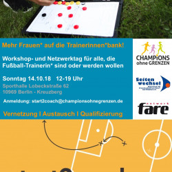 Champions ohne Grenzen to host Women in the Coaching Zone workshop during #FootballPeople weeks