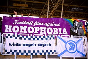 Football fans against homophobia White Angles NK Zagreb(1)