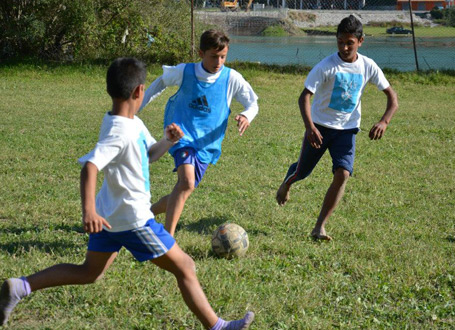Football tournament organised by the NGO Door Centre in Albania.