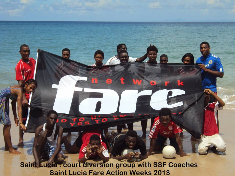 2013 Action Weeks group Sacred Sports Foundation Inc St Lucia
