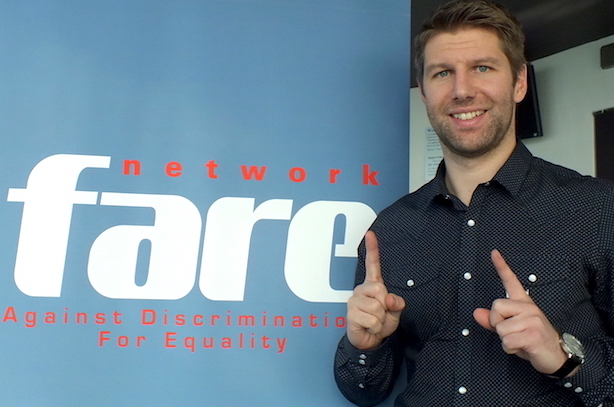 Thomas Hitzlsperger supporting the ELEVEN campaign