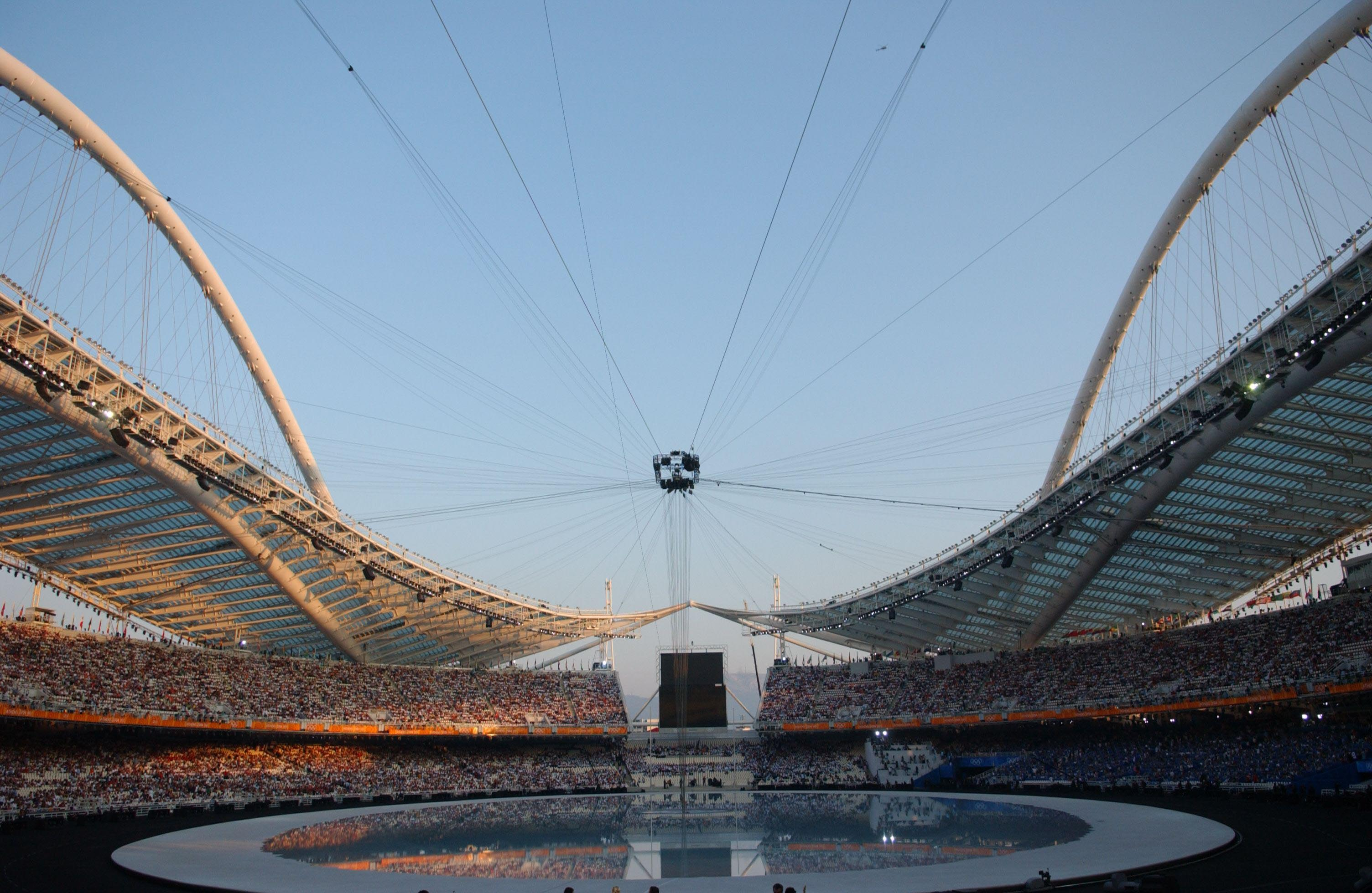 General view of the interior of the Olympic Stadium during the opening ceremony 2004 Olympic Games Opening Ceremony Athens, Greece 13/08/2004 Photo: Masakazu Watanabe © Sporting Pictures (UK) Ltd Tel: 020 7405 4500 Fax: 020 7831 7991 www.sportingpictures.com NOT FOR USE IN AUSTRALIA & JAPAN -PLEASE CONTACT US IF YOU WISH TO USE THIS IMAGE IN THESE COUNTRIES